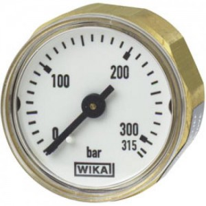 Wika 315 BAR Miniature Bourdon tube pressure gauge 111.12.027
